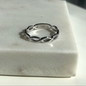 Sterling Silver 925 Braided Ring Size 5